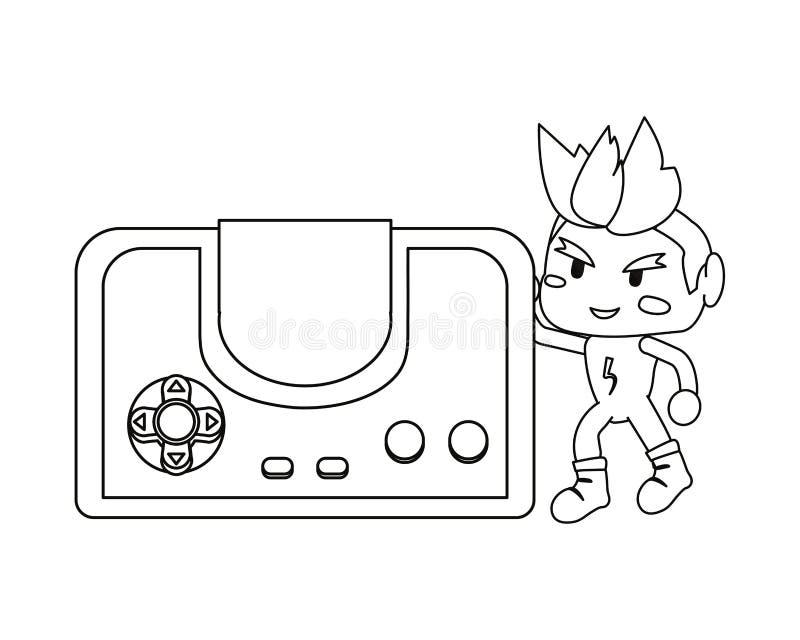 Videospelletjesontwerp stock illustratie