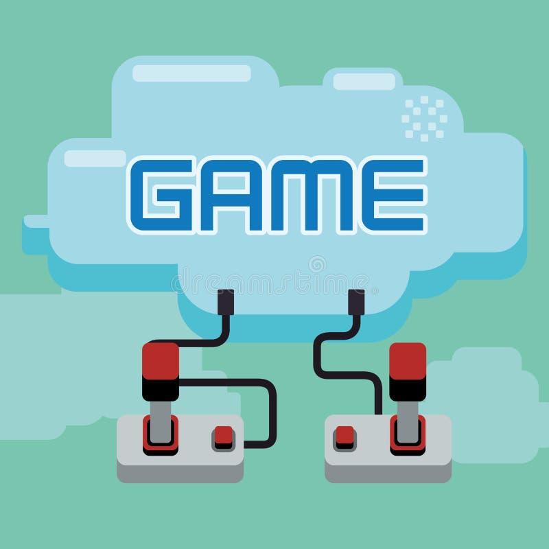 Videospelletjesontwerp vector illustratie
