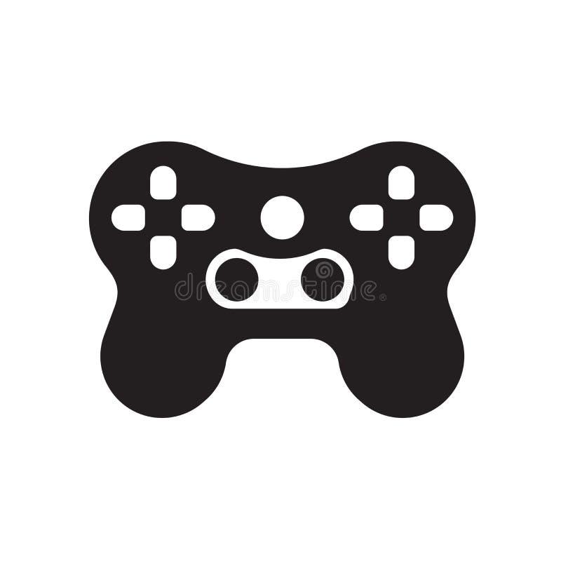 Videospelletjespictogram op witte achtergrond wordt geïsoleerd die royalty-vrije illustratie