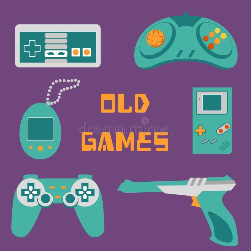 Videospelletjespictogrammen royalty-vrije stock foto's