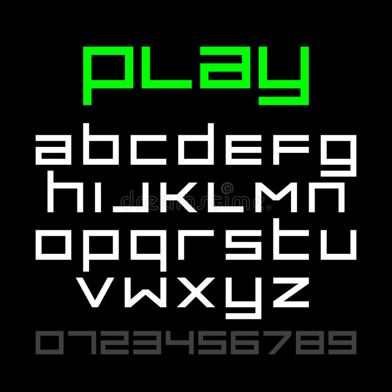 Videospelstilsort för gammal stil vektor illustrationer