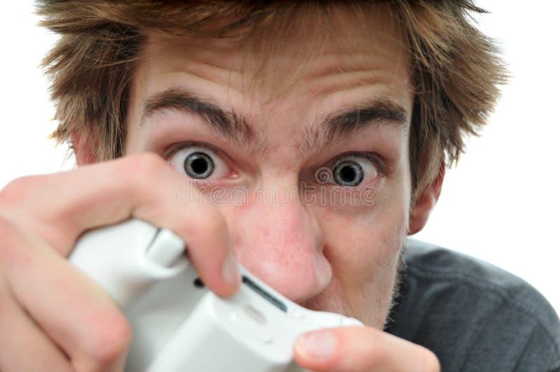 Videospiel Maniac lizenzfreies stockbild