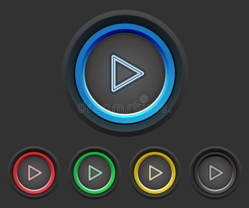 Videospielknöpfe vektor abbildung