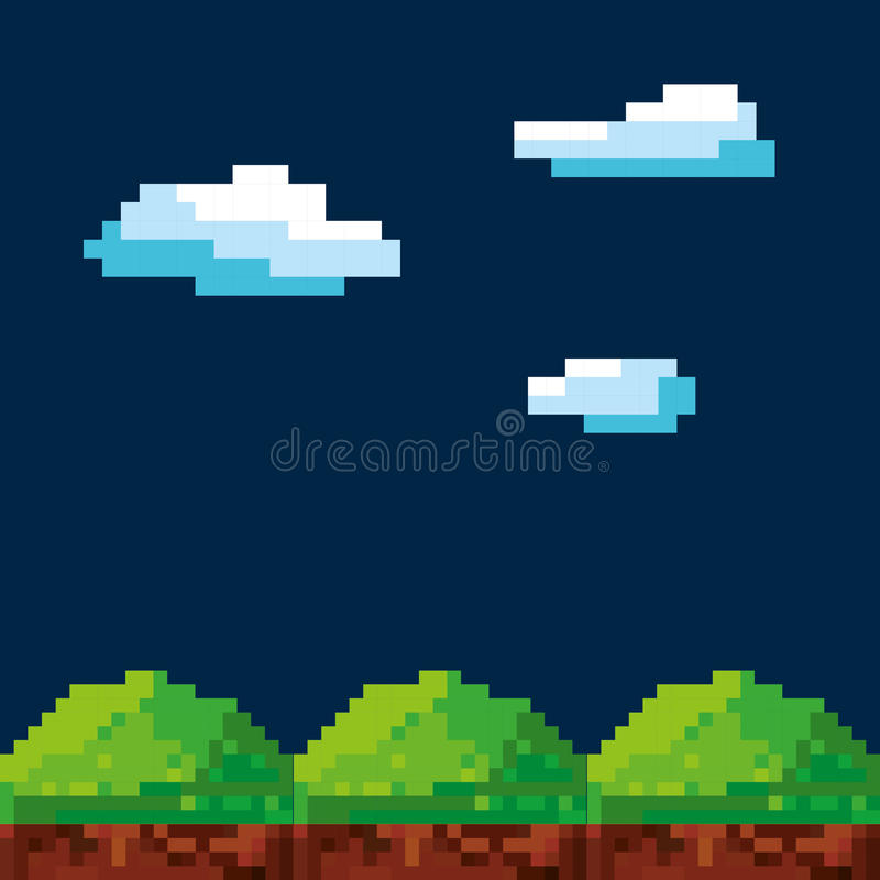 Videospielpixeldesign stock abbildung
