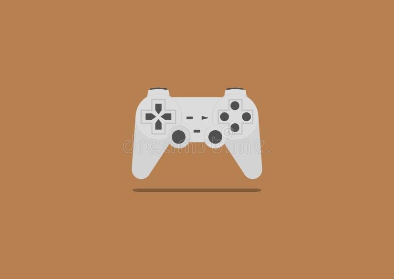 Videospielsteuerknüppel-Illustrationsvektor lizenzfreies stockbild