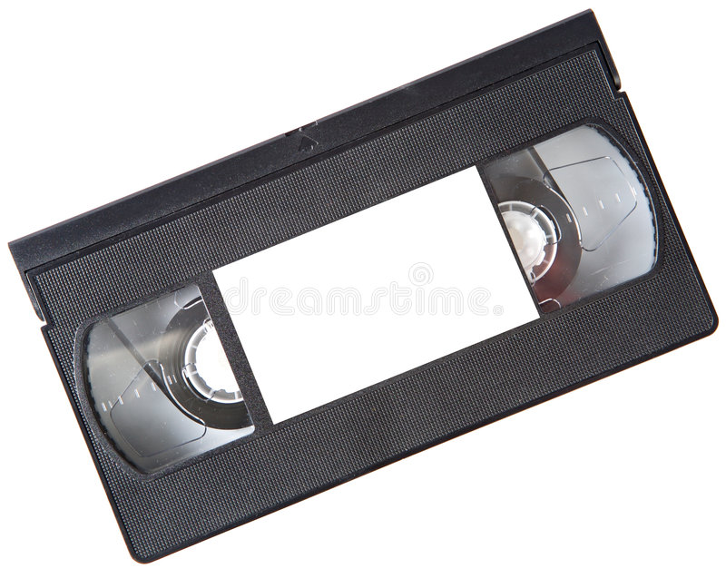 Videotape. A photo of a videotape a over white background royalty free stock photo