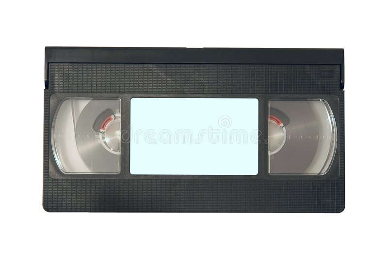 Videotape. With space to write royalty free stock photos