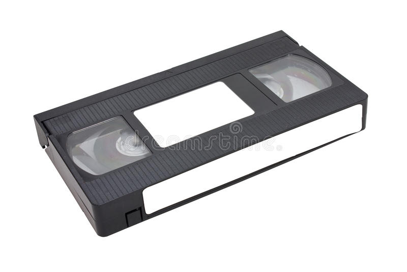 Videotape. Videotape Isolated On White Background stock image