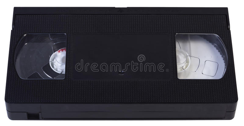 Videotape vazio de VHS fotos de stock