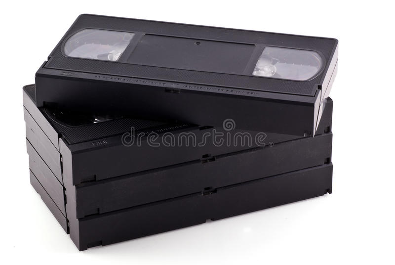Videotapes. royalty free stock image