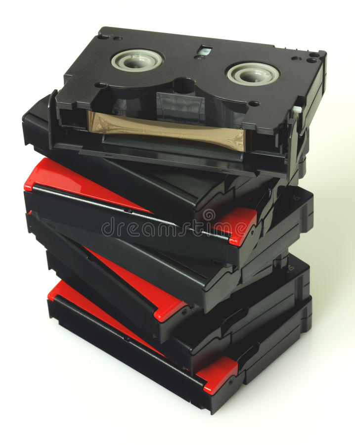 Videotapes isolated royalty free stock images