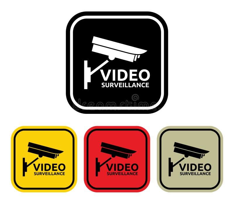 Videotoezichtteken stock illustratie