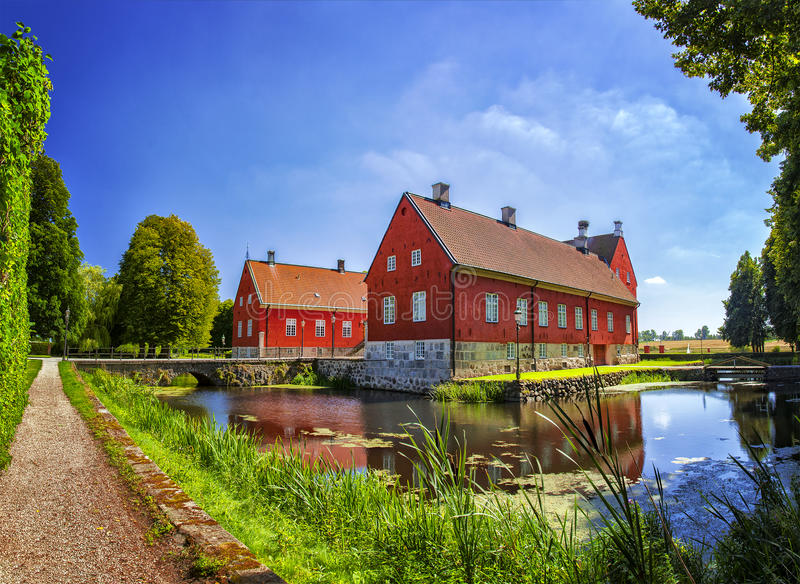 Viderup farming estate royalty free stock photo