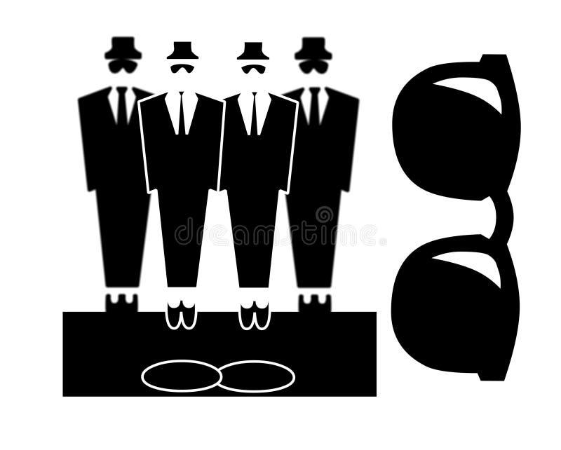 Videurs ou frères de bleus illustration stock