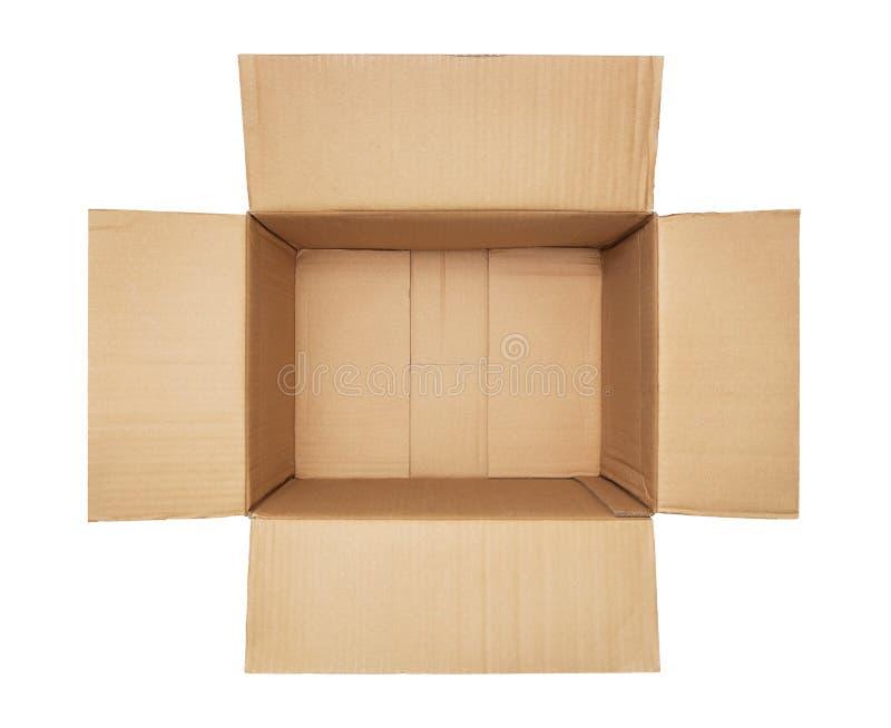 Videz la boîte en carton ouverte photographie stock libre de droits