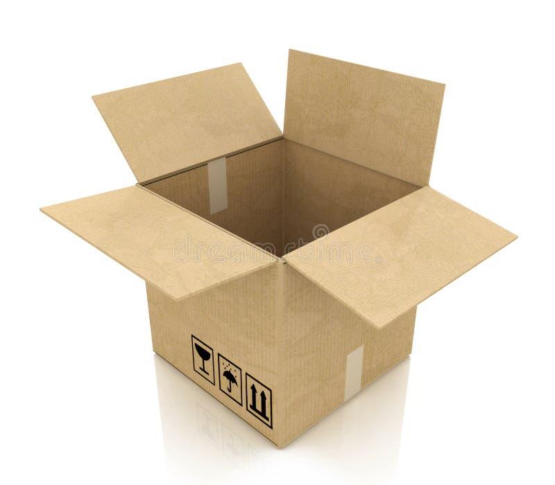 Videz la boîte en carton ouverte illustration libre de droits