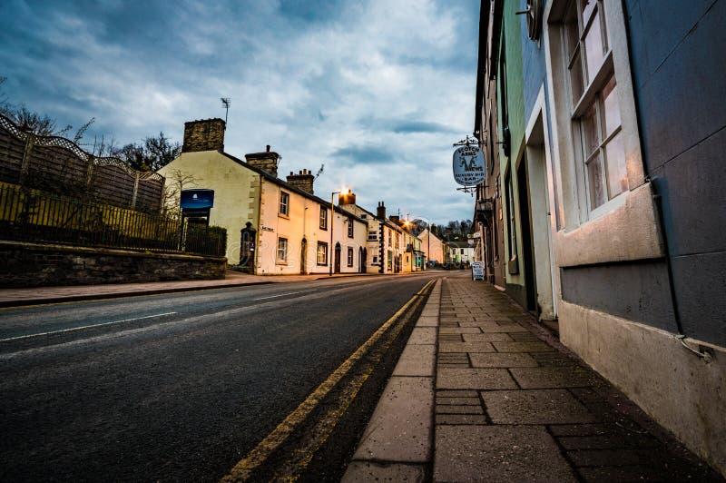 Videz la route principale A6071 dans Brampton, Cumbria photo stock