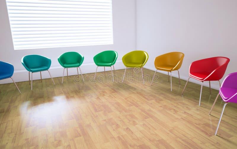 Videz la salle de réunion  illustration de vecteur