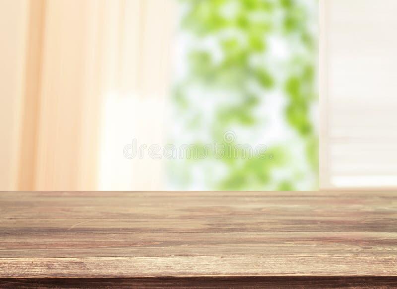 Videz la table en bois, planches en bois, fond images stock