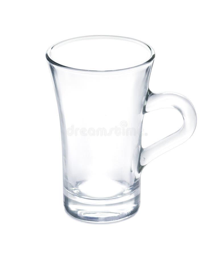 Videz la tasse propre de verre à boire - verre transparent d'isolement sur le fond blanc photographie stock