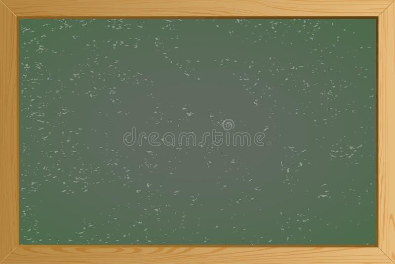 Videz la texture verte de fond de tableau d'école avec le cadre Descripteur pour votre conception Illustration EPS10 de vecteur illustration stock