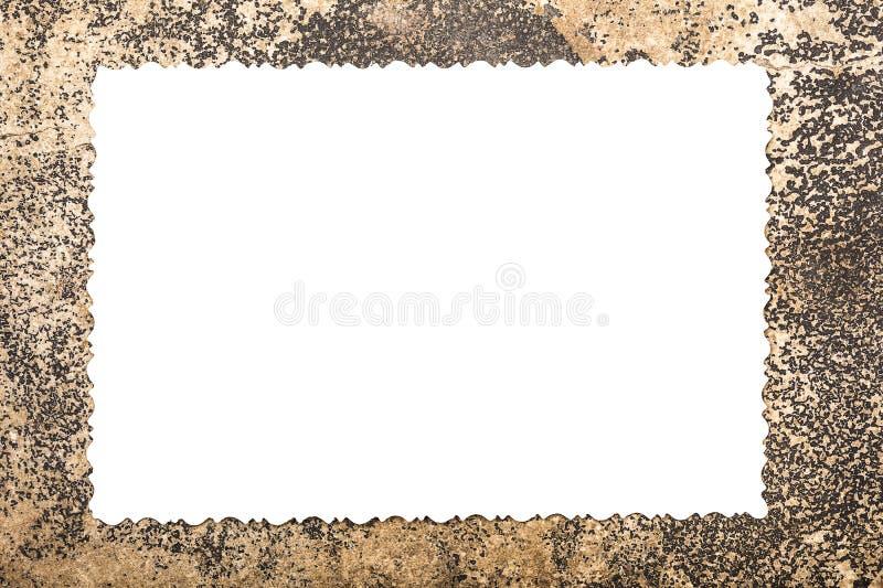 Videz le blanc blanc pour la photo sur le vieux cadre de papier images stock
