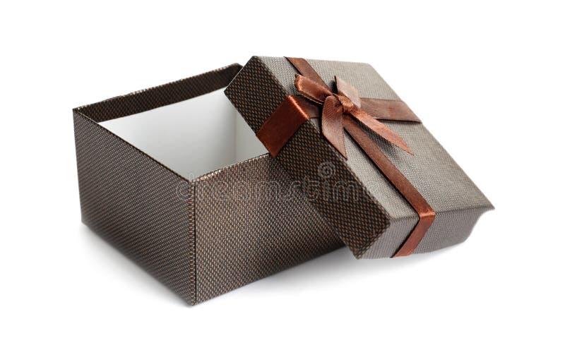 Videz le boîte-cadeau ouvert photographie stock