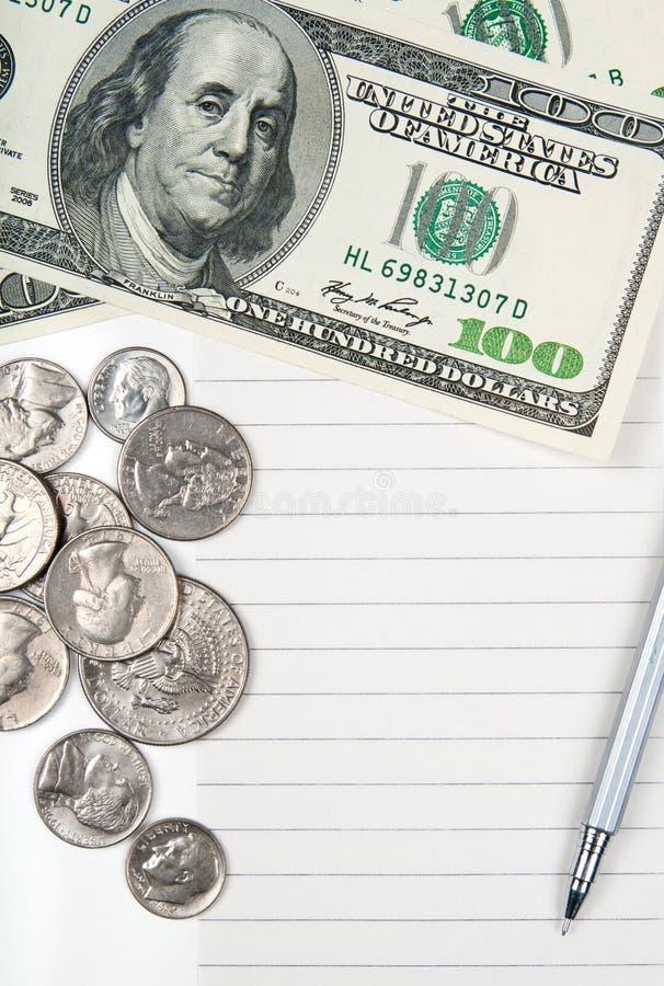 Videz le papier, l'argent et le crayon lecteur rayés image libre de droits