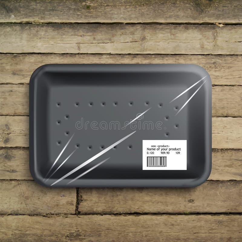 Videz le plateau enveloppé de nourriture illustration libre de droits
