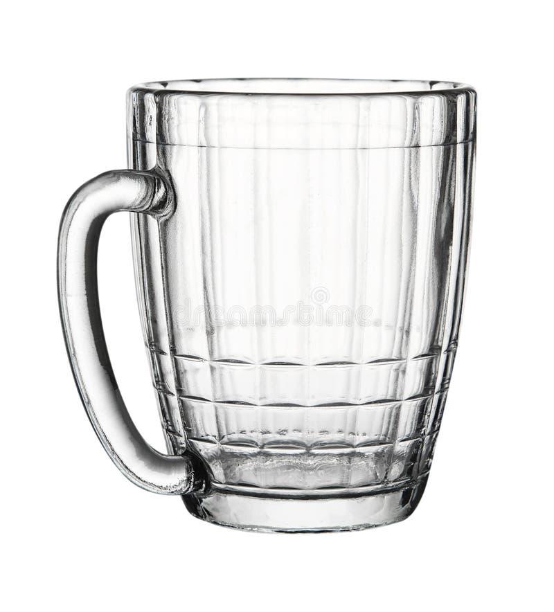 Videz le verre facetté d'isolement sur le fond blanc photographie stock