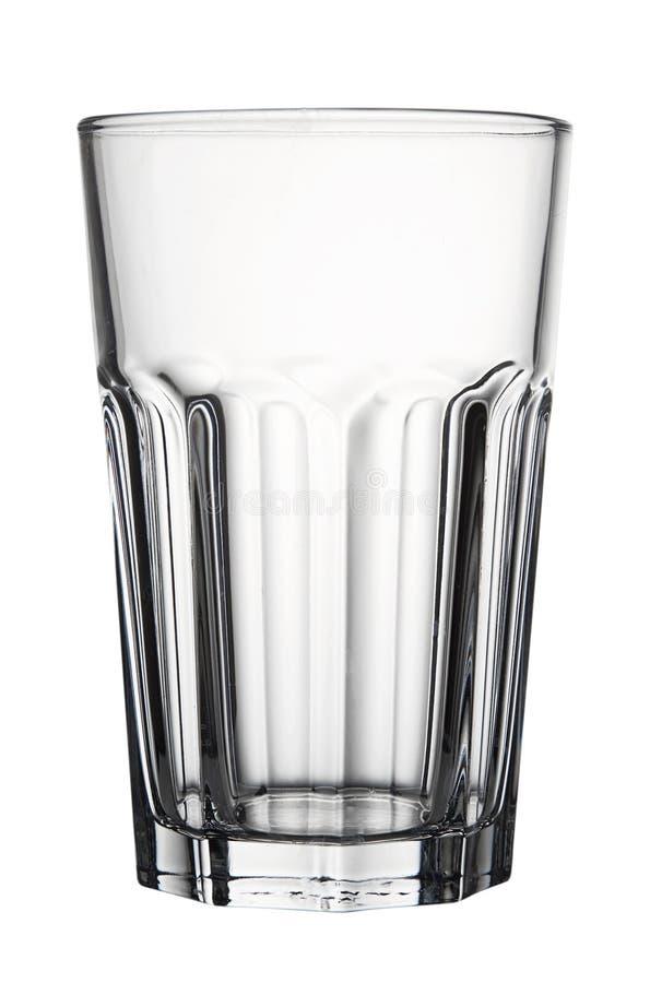 Videz le verre facetté d'isolement sur le fond blanc photo stock