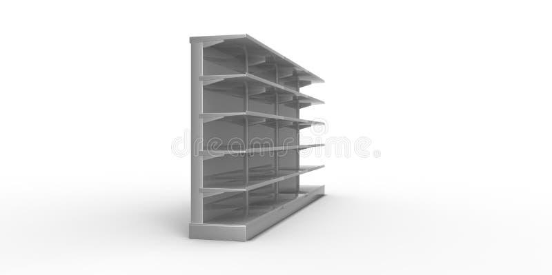 Videz les étagères au détail grises sur un fond simple illustration de vecteur