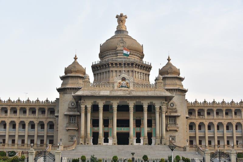 Vidhana Soudha,班加罗尔,卡纳塔克邦 免版税图库摄影
