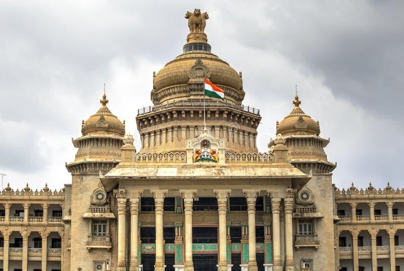 Vidhana Soudha, Bangalore, Indien arkivbilder