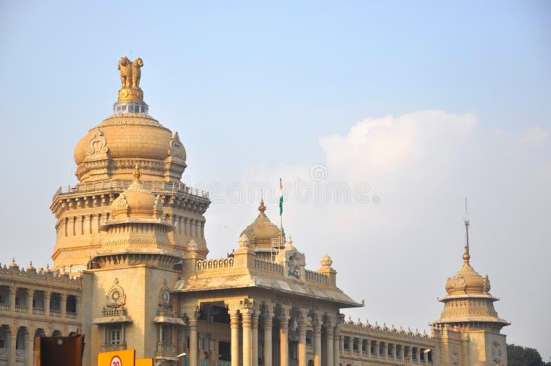 Vidhana Soudha Bengaluru. Vidhana Soudha located in Bengaluru, India. It is famous landmark and is the state legislative building built in the dravidian style stock images