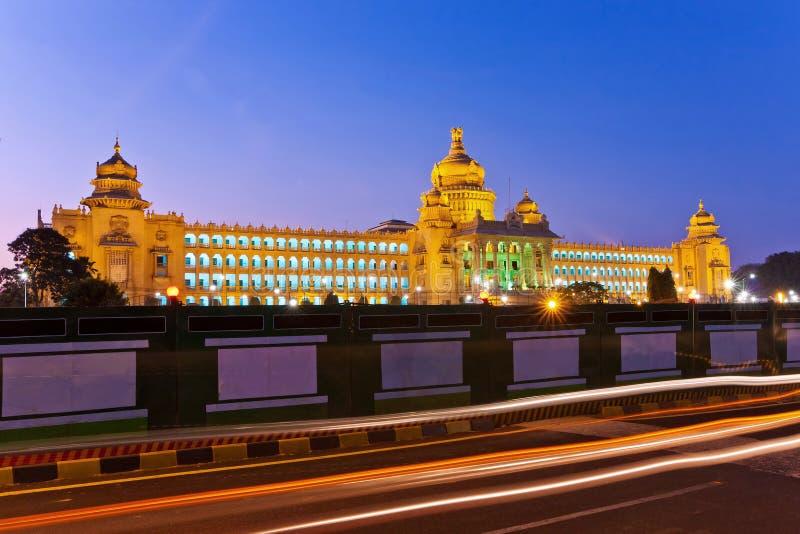 Vidhana Soudha de wetgevende macht van de staat stock afbeeldingen