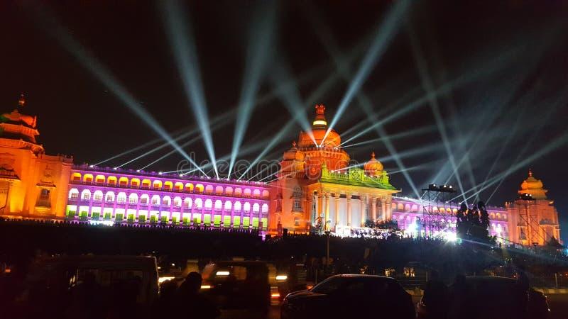 Vidhana-soudha Feiern überall, Markstein von Bangalore, Indien lizenzfreie stockbilder