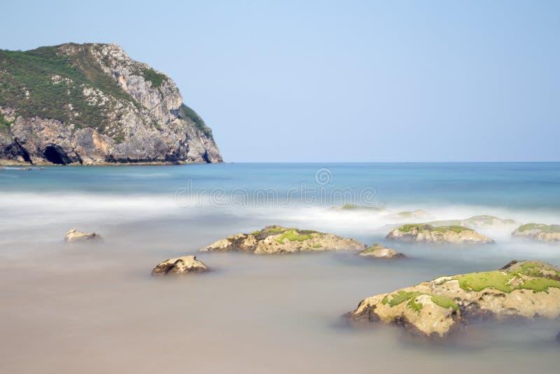 Vidiago beach in Llanes, spain stock image