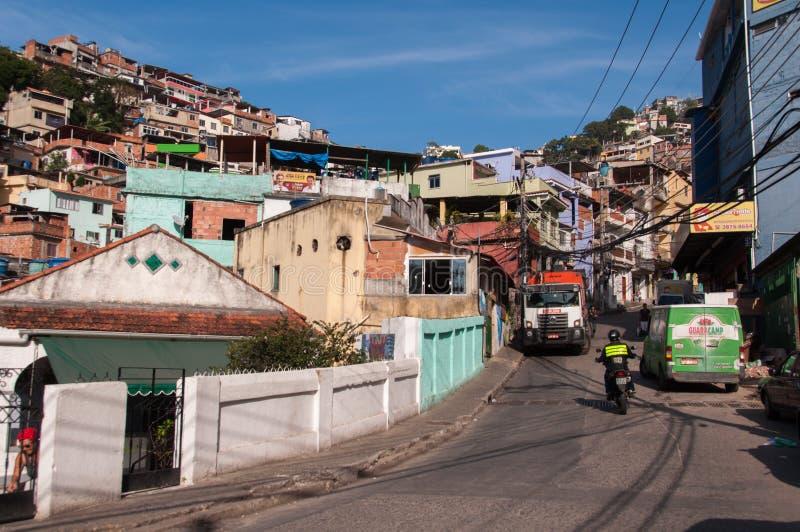 Vidigal Favela i Rio de Janeiro royaltyfri foto