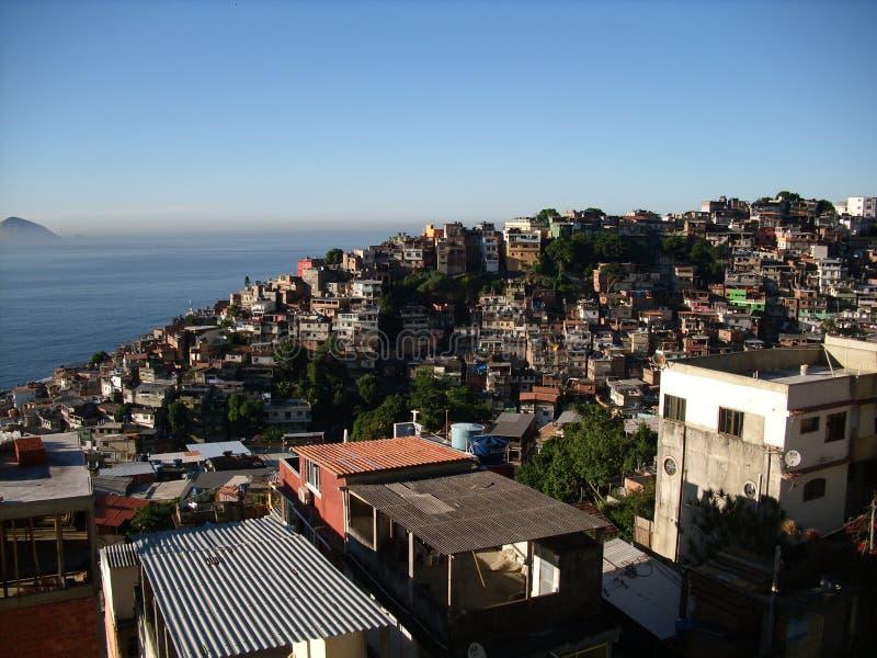 Vidigals favela i morgonen arkivbilder