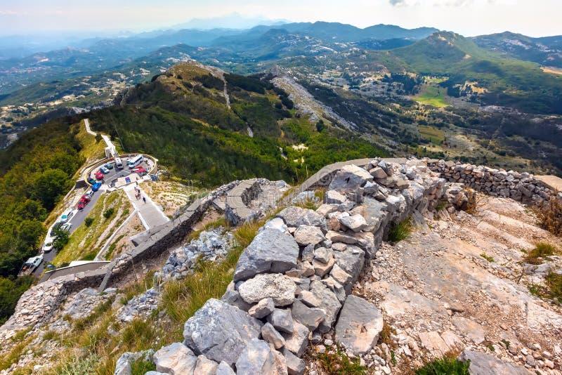 Vidikovac, Lovcen park narodowy, Montenegro obraz royalty free