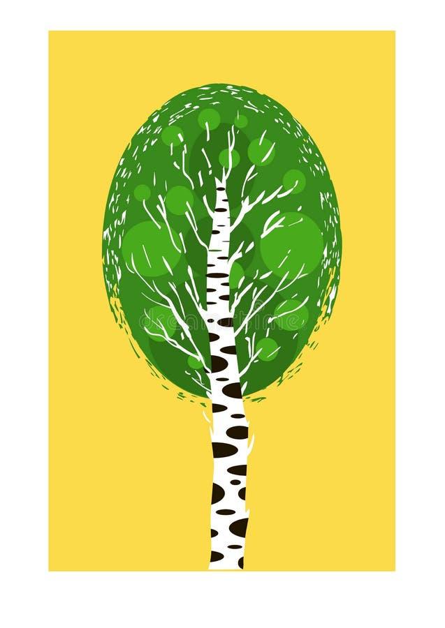 Vidoeiro da árvore ilustração do vetor