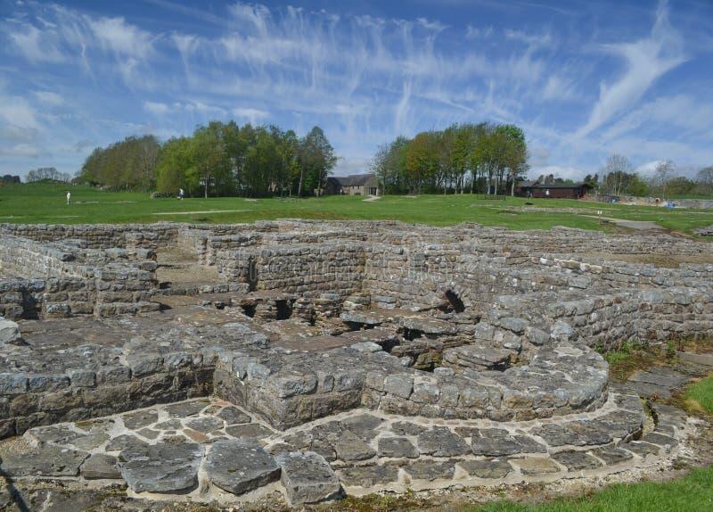 Vidolanda Roman Fort perto da parede de Hadrians imagens de stock