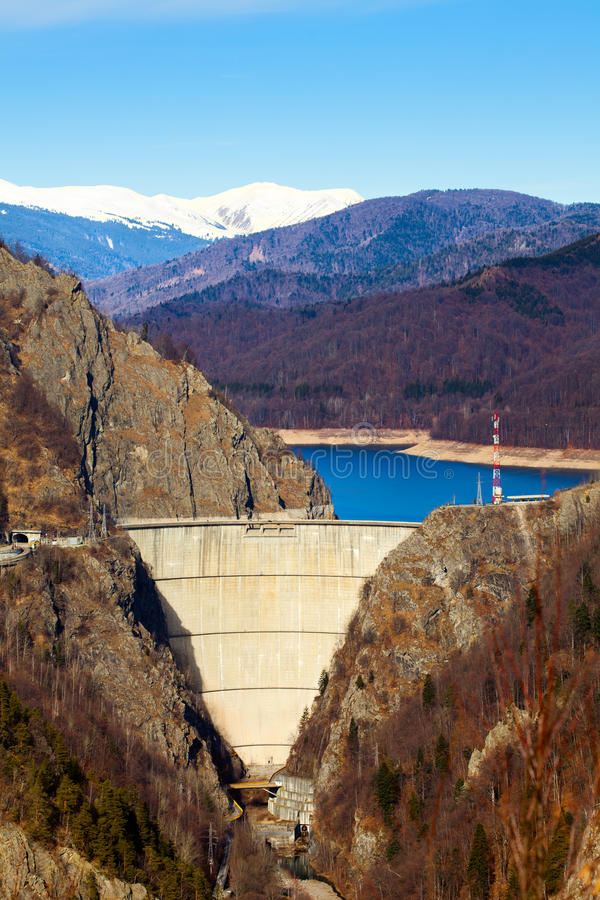 Vidraru Lake, Romania stock image