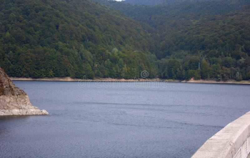 Vidraru Lake in Romania royalty free stock photography