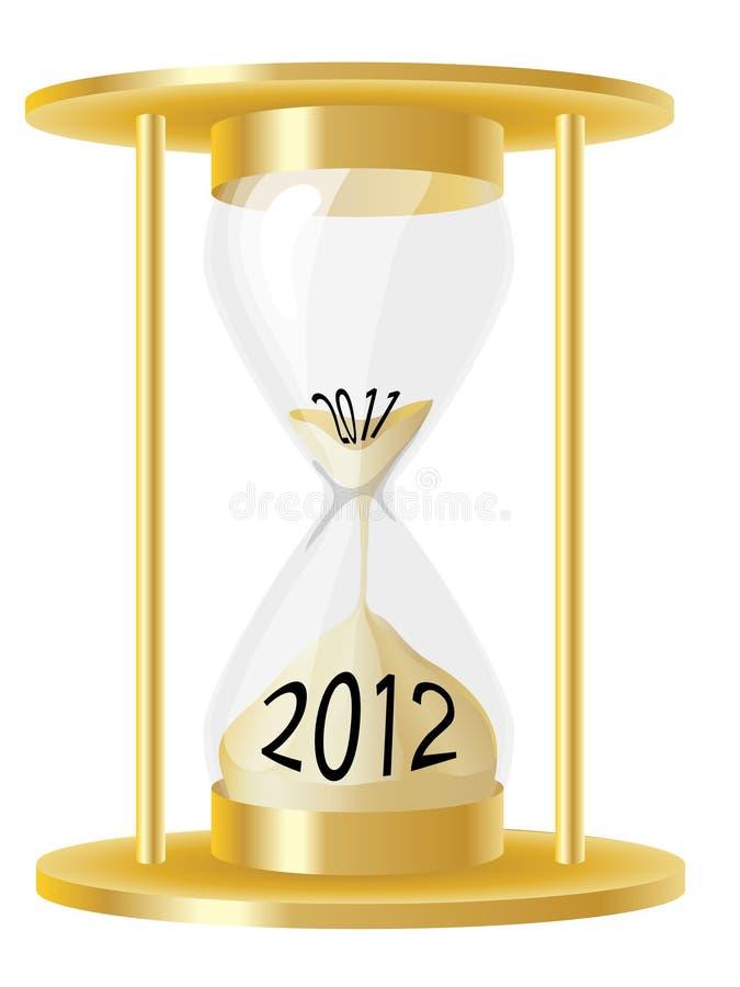 Vidrio 2012 de la hora stock de ilustración