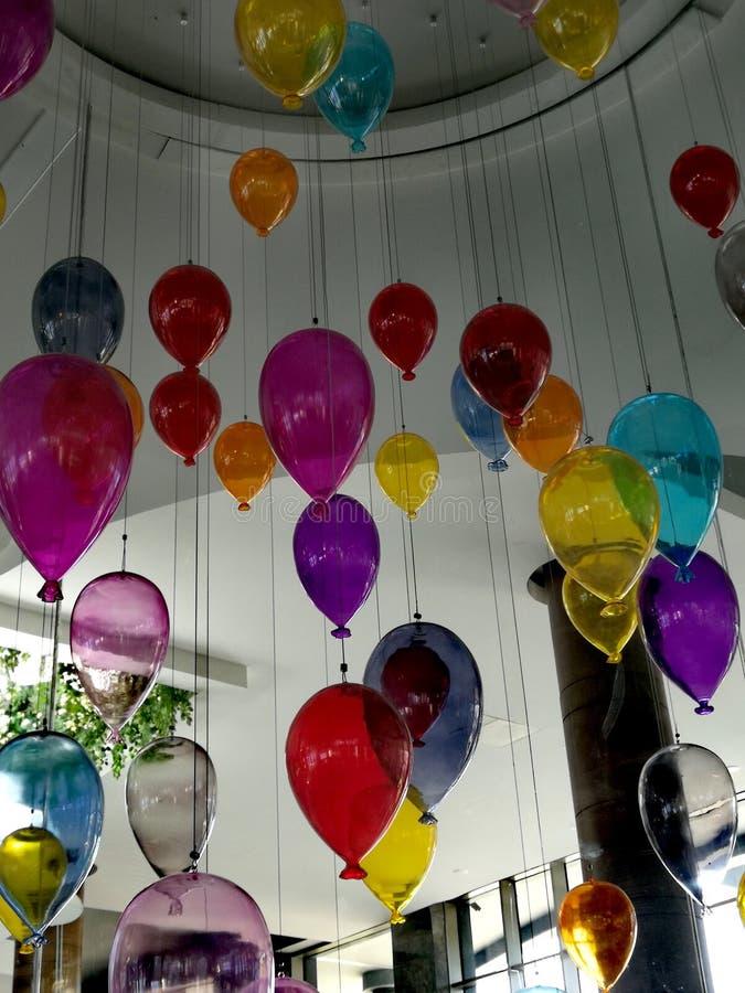 Vidrio Baloons de Colourfull fotos de archivo libres de regalías