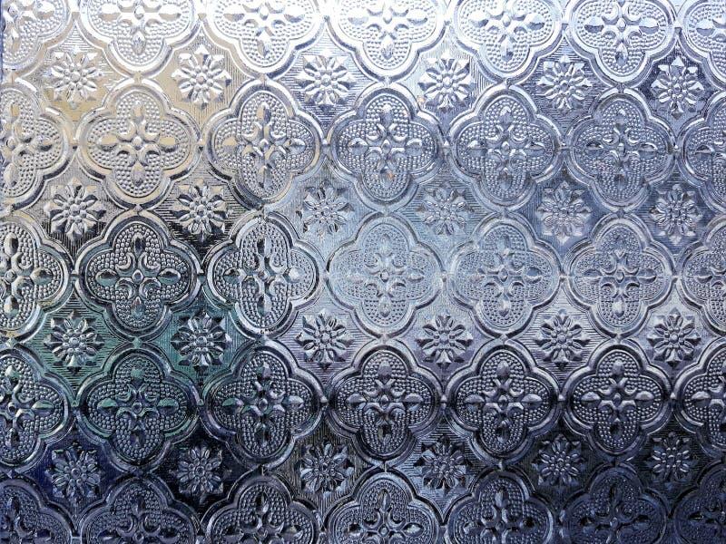 Vidrio colorido de fondo de plata de la ventana fotos de archivo libres de regalías