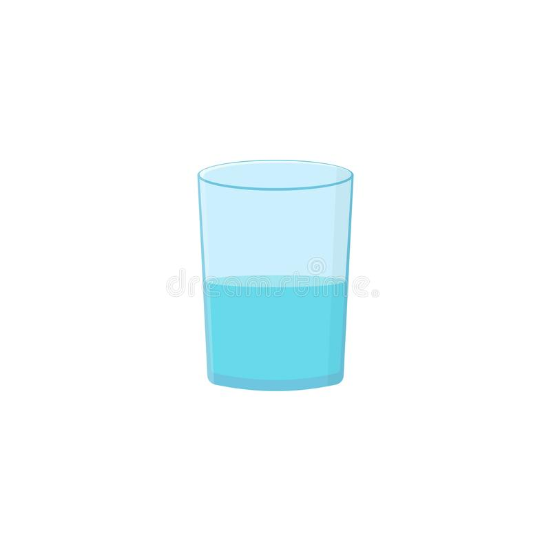 Vidrio con agua stock de ilustración
