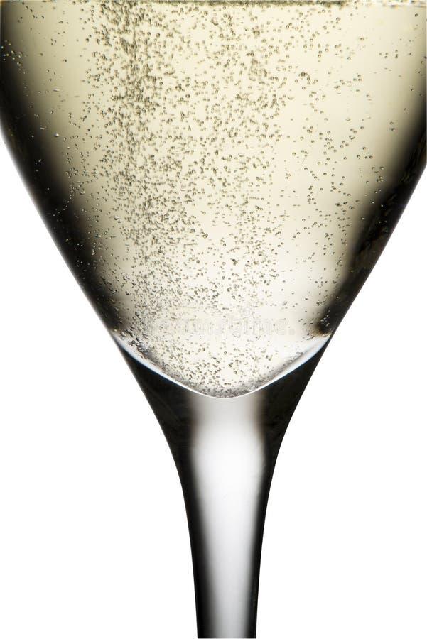 Vidrio con champán imágenes de archivo libres de regalías